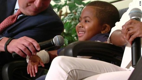 Boy is first child to get double hand transplant