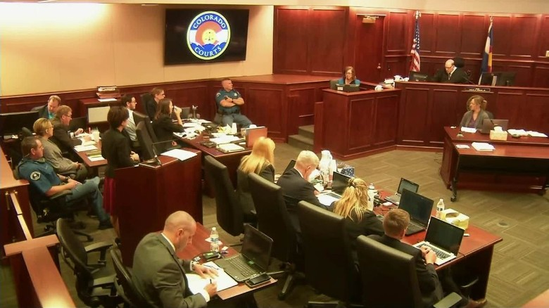 Mother of James Holmes chokes up on stand