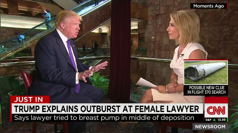 Trump explains outburst at female lawyer