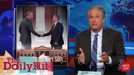 What Jon Stewart did on his visit to the White House