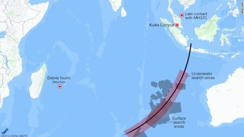MH370 maps Takeoff disappearance searches  CNN