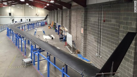 Facebook has completed construction on its Aquila drone which will eventually be used to beam Internet connections to the ground with lasers.