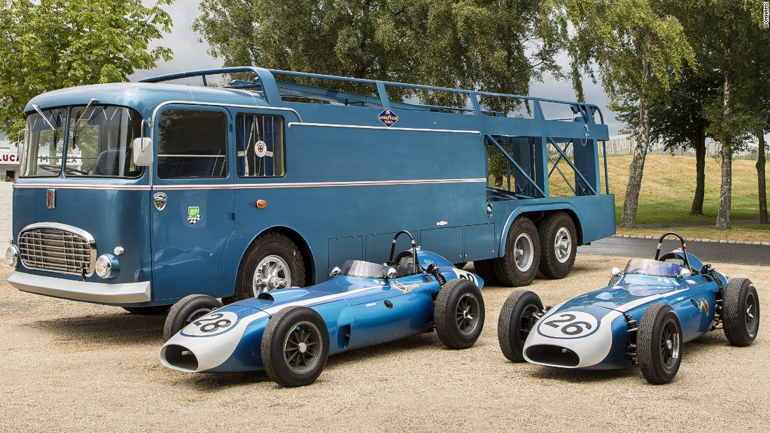 Scarab were the first American team to participate in Formula One. The marque's cars and their Fiat transporter are coming up for auction in the UK this September.