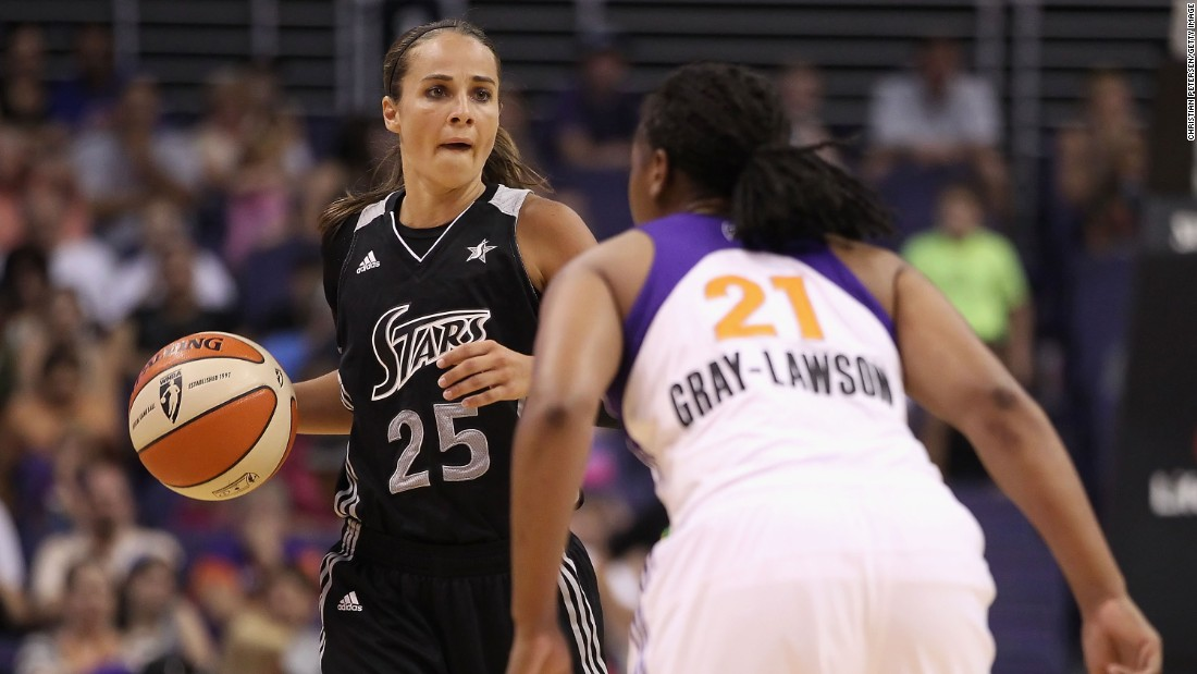 Becky Hammon (L), a former WNBA player with the San Antonio Silver Stars is a full-time assistant coach with the NBA's San Antonio Spurs. She is tipped to be the the first female head coach in a major men's pro league.