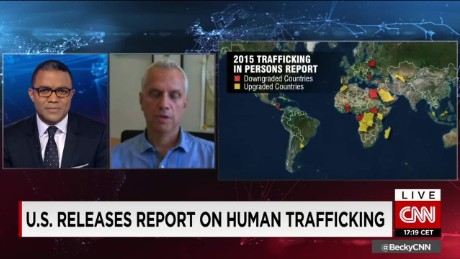 exp Ilias Chatzis, Chief, Human Trafficking and Migrant Smuggling Section, UNODC on CNNI. _00002001