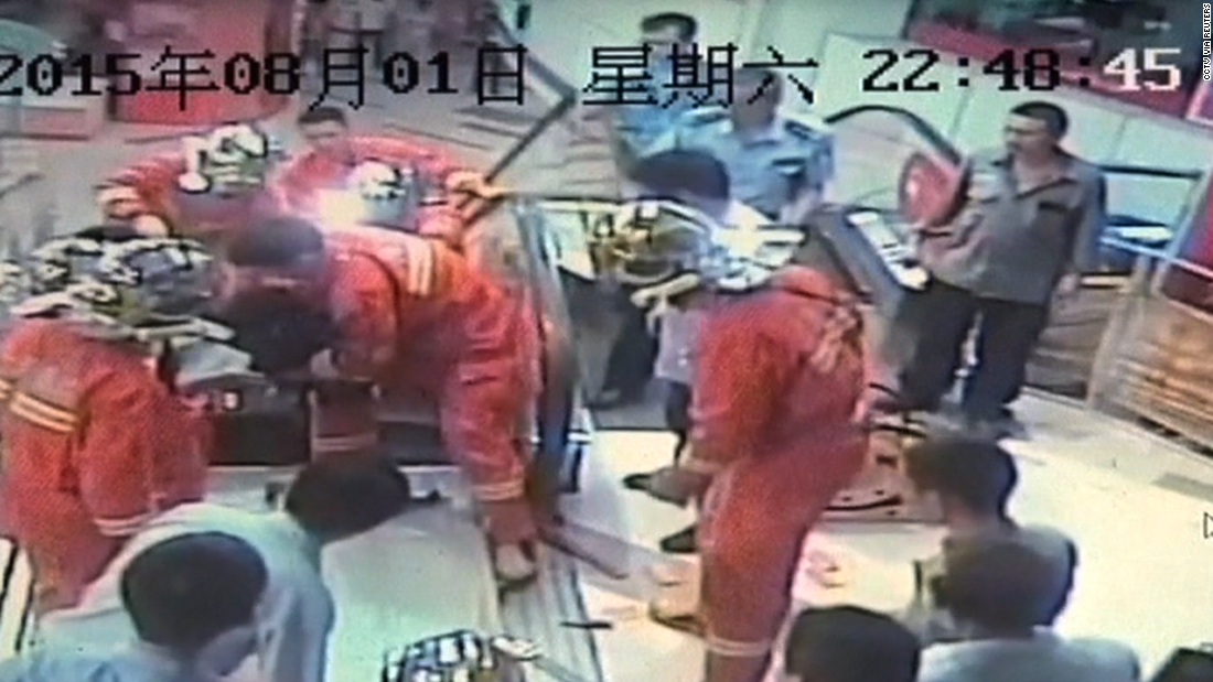 Shanghai man's lower leg amputated after getting trapped in escalator