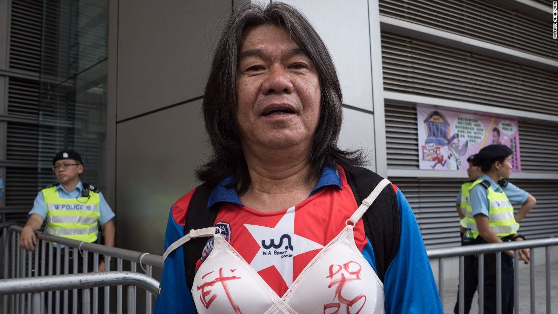 "Pro-democracy legislator Leung Kwok-hung, also known as ""Long Hair,"" said the sentence was an ""insult to all the women on this earth."""