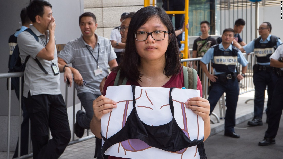 "Ng Cheuk Ling, a 24-year-old activist, said she was ""baffled"" as to how a breast attack could take place, and worried that sexual harassment could become a tactic for police suppression."