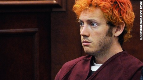 "CENTENNIAL, CO - JULY 23:  Accused movie theater shooter James Holmes makes his first court appearance at the Arapahoe County on July 23, 2012 in Centennial, Colorado. According to police, Holmes killed 12 people and injured 58 others during a shooting rampage at an opening night screening of ""The Dark Knight Rises"" July 20, in Aurora, Colorado.  (Photo by RJ Sangosti/Pool/Getty Images)"