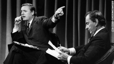 Gore Vidal and William Buckley Jr. debate on November 5, 1968.