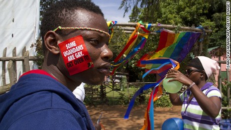 Participants in the annual gay pride in Entebbe on August 9, 2014.