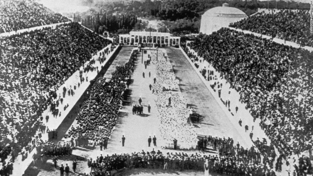 Greece's ancient capital hosted the first modern Olympic Games. The opening ceremony took place at the Panathinaiko Stadium before 241 athletes from 14 nations took part in 43 events across nine sports.