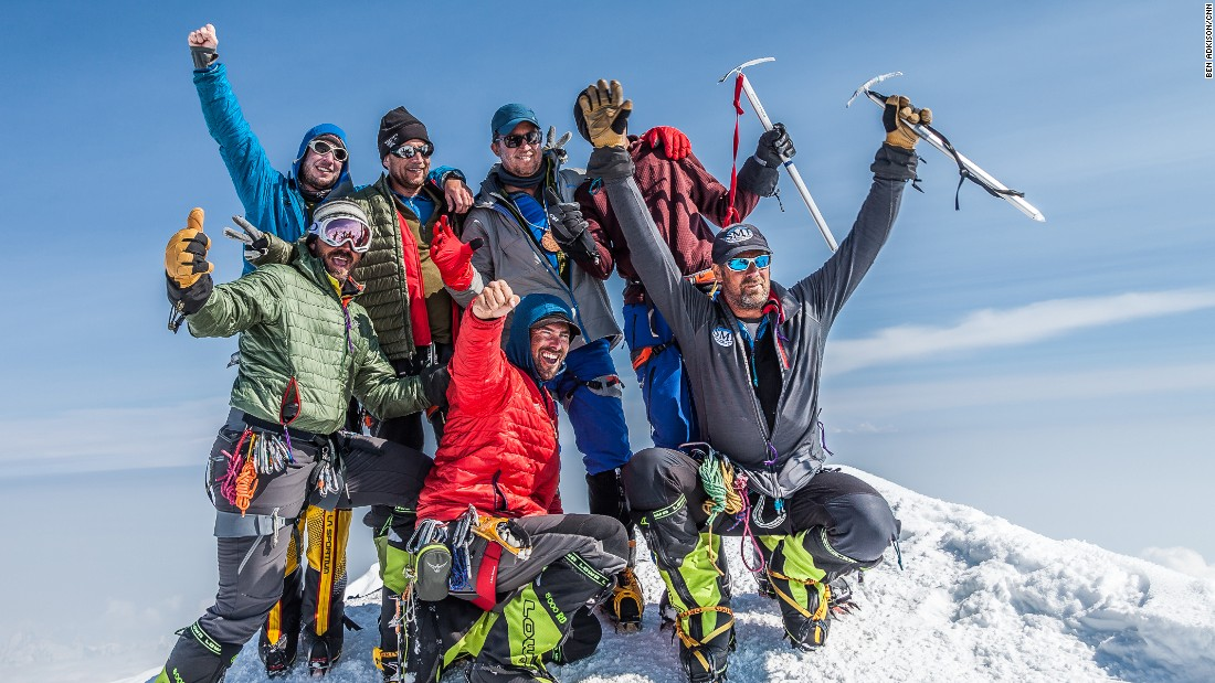 "Each year only about half of the 1,000 or so climbers who attempt Denali make it to the summit. Unless you're an experienced mountaineer with cold weather experience it's best to join the roughly 50% of climbers who go on guided expeditions. There are five guide companies, including <a href=""http://www.mountaintrip.com"" target=""_blank"">Mountain Trip</a>, licensed to guide on Denali. The gallery's photographer and author, Ben Adkison, is in the rear left of the photo."