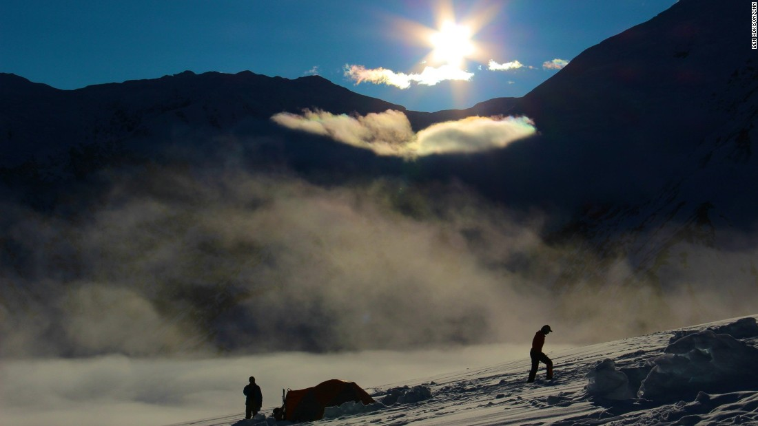 "After a 45-minute flight on a small ski plane, climbers land at Kahiltna Base Camp, sometimes called Kahiltna International Airport because climbers from all over the world fly in to attempt to climb Alaska's Denali, formerly known as Mount McKinley. At <a href=""http://www.cnn.com/2013/09/12/us/mount-mckinley-shrinks/"">20,237 feet</a> it's the highest peak in North America."