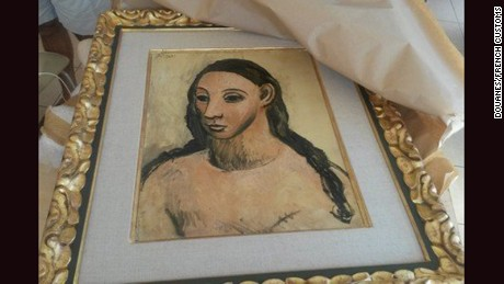 "French customs seized Picasso's ""Head of a Young Woman"" belonging to Spanish banking billionaire from yacht in Corsica."