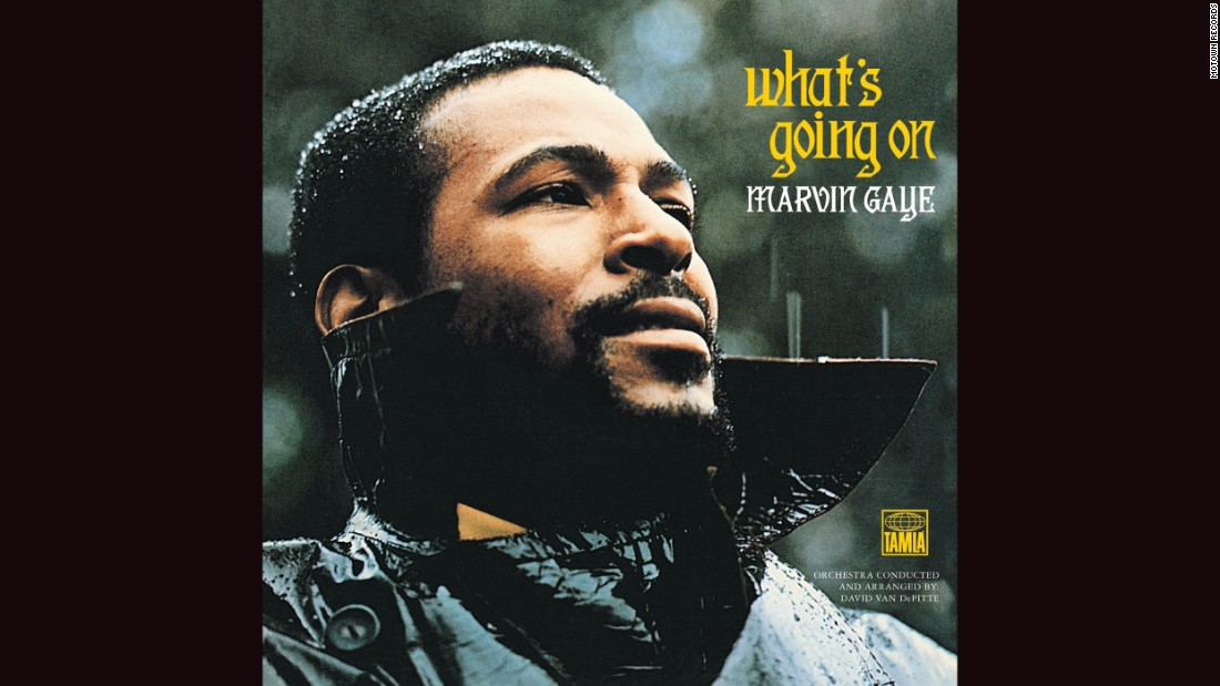 "<strong>""What's Going On,"" Marvin Gaye</strong>: Like most Motown artists, Marvin Gaye stayed with the label's don't-rock-the-boat program in the 1960s. But his landmark 1971 album, inspired in part by his brother's return from Vietnam, took on the woes of America and the black experience. The cover photo, of a brooding Gaye in the rain, captures the tone perfectly."