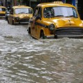 Flooding India yellow taxis