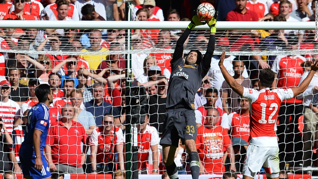 Arsenal's new goalkeeper Petr Cech kept a clean sheet against his old club in the FA Community Shield match at Wembley Stadium on August 2.