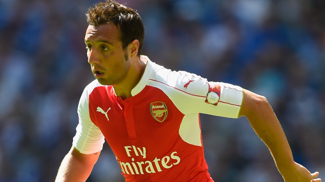 LONDON, ENGLAND - AUGUST 02:  Santi Cazorla of Arsenal during the FA Community Shield match between Chelsea and Arsenal at Wembley Stadium on August 2, 2015 in London, England.  (Photo by Mike Hewitt/Getty Images)