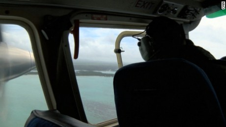Erin Mclaughlin was on board an aircraft with the Mauritius National Coast Guard's surveillance team as they scoured the coast line for any remains