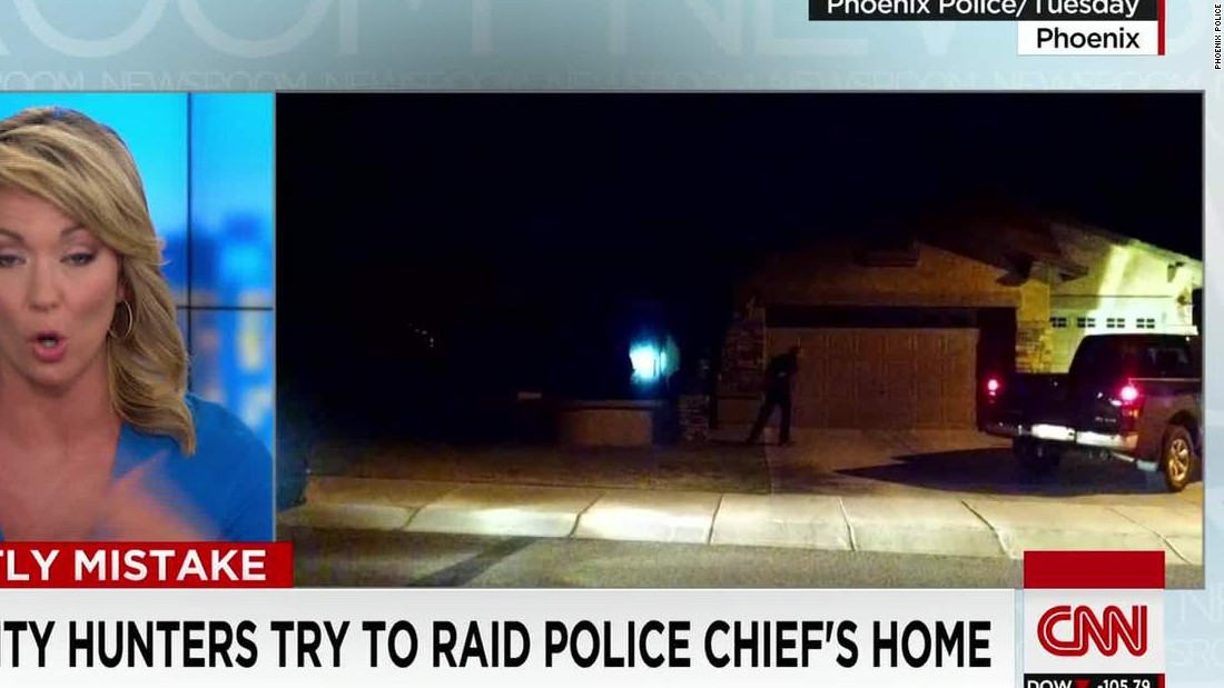 Bounty hunters mistakenly try to raid police chief's house