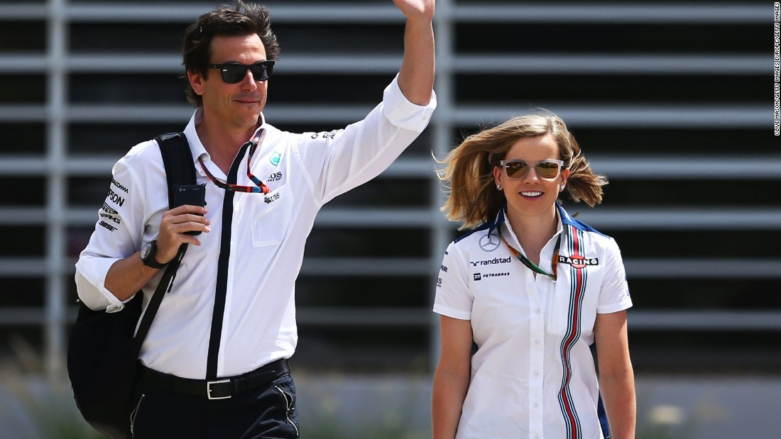 """We're not out to try to change this sport, we're just out to participate and to be successful,"" Wolff says of women in F1. The Scottish racer is often seen in the F1 paddock with her husband Toto, who is the motorsport boss of German car manufacturer Mercedes."
