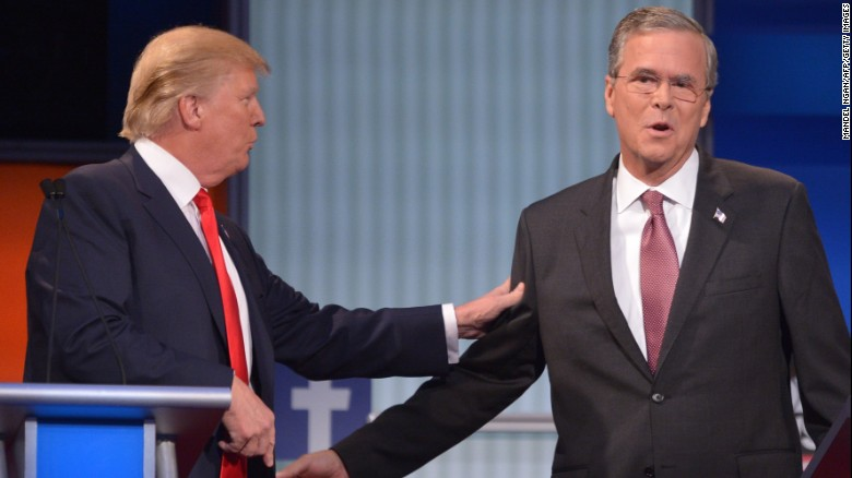 The best of Donald Trump vs. Jeb Bush