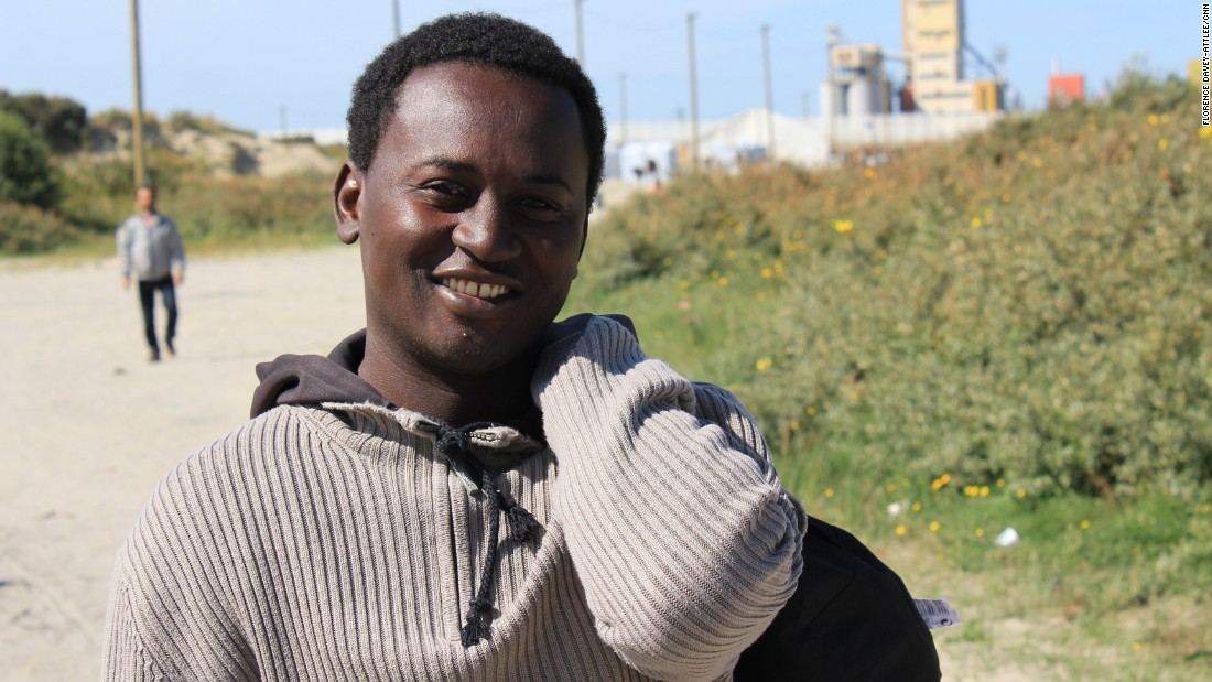 "Mohammed is from Sudan. ""Life is very hard in Sudan,"" he says. ""I want to go to England to get a good education. There is very good education in England and I already speak English."""