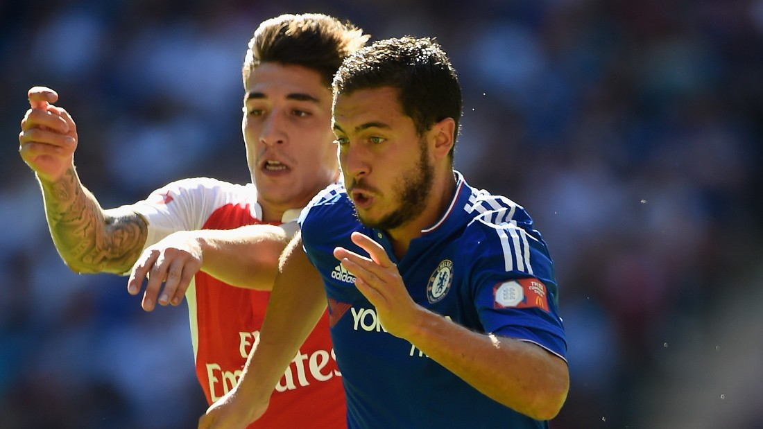 LONDON, ENGLAND - AUGUST 02:  Eden Hazard of Chelsea in action during the FA Community Shield match between Chelsea and Arsenal at Wembley Stadium on August 2, 2015 in London, England.  (Photo by Mike Hewitt/Getty Images)