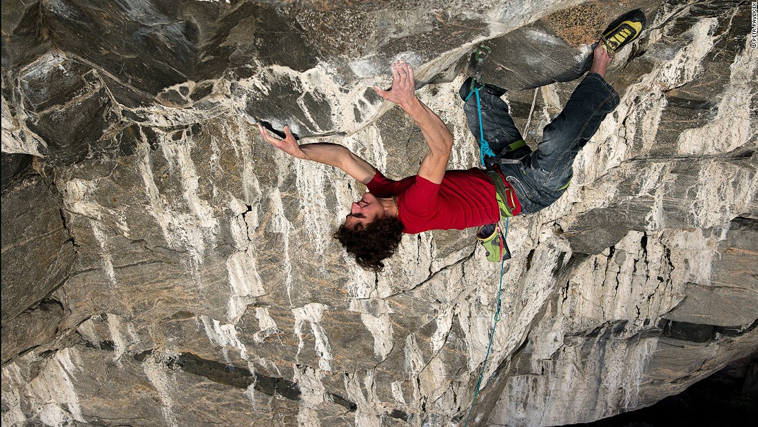 "Adam Ondra climbs ""Change"" in Norway. The route was graded a 9b+using the French numerical system (5.15c in the U.S.) -- the highest rated sport climb in the world. In 2012 and Ondra was the first to complete it without falling off."