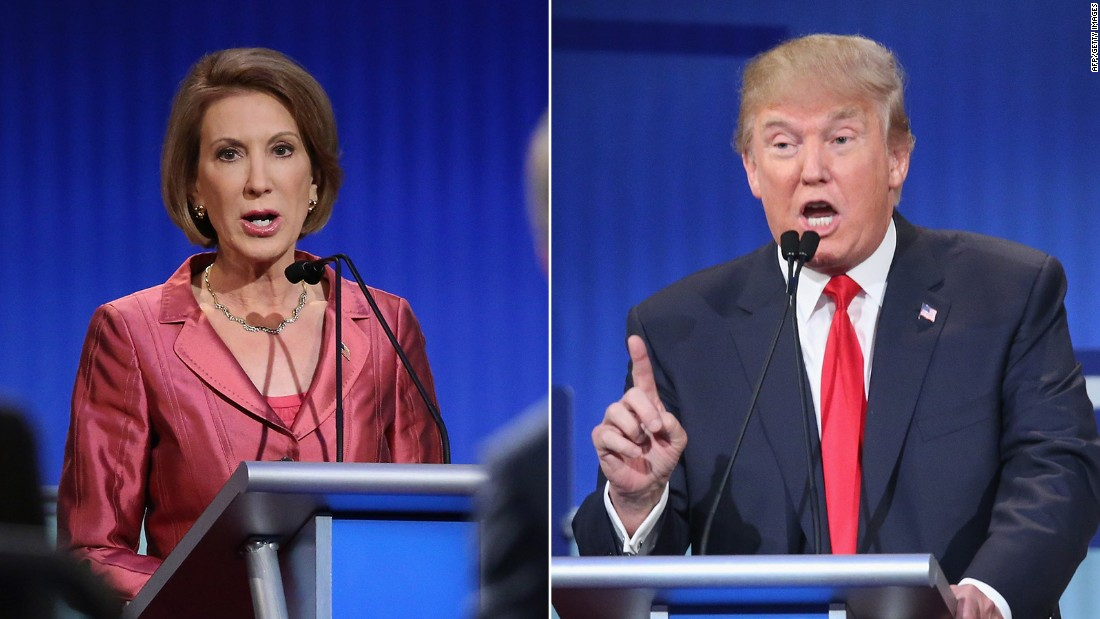Donald Trump: I wasn't talking about Carly Fiorina's face