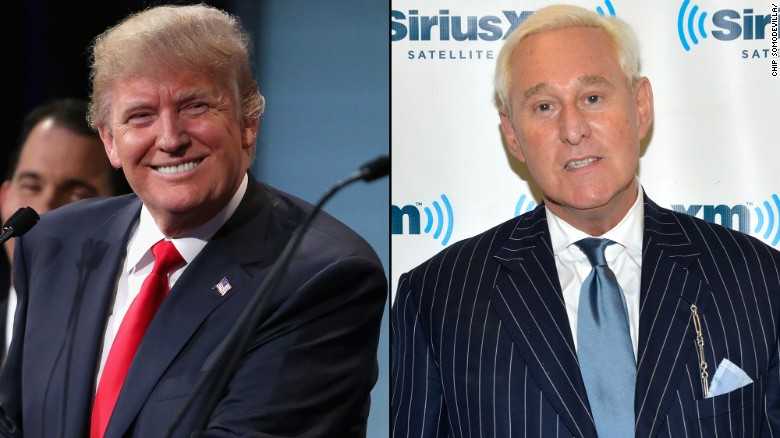 Former Trump adviser Roger Stone talks to CNN