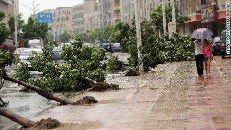 Soudelor drenches China, downgraded to tropical storm