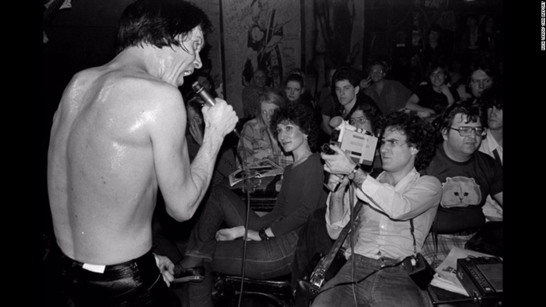 The Cramps' lead singer Lux Interior is seen performing here. He died in 2009.