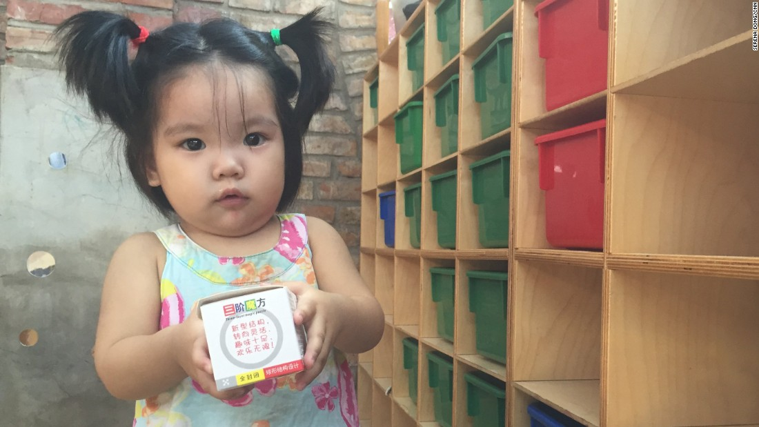 Meng Song was one of the little girls looking for a new home at the orphanage last time CNN visited in August, 2015. She's since been adopted.