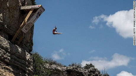 High diver takes a leap of faith