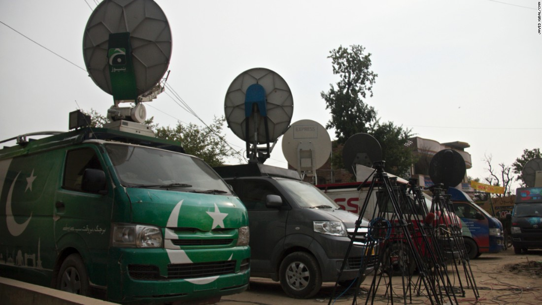 Local media has played a strong role in bringing this story to the public eye. Satellite vans line the high street as journalists scramble to get the latest information regarding the scandal.