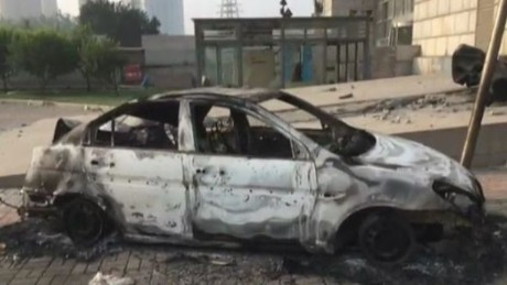 Video shows aftermath of Tianjin explosion, shockwave