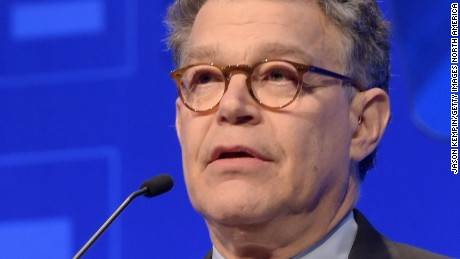 LOS ANGELES, CA - MARCH 14:  United States Senator Al Franken speaks onstage during the Human Rights Campaign Los Angeles Gala 2015 at JW Marriott Los Angeles at L.A. LIVE on March 14, 2015 in Los Angeles, California.  (Photo by Jason Kempin/Getty Images for Human Rights Campaign)
