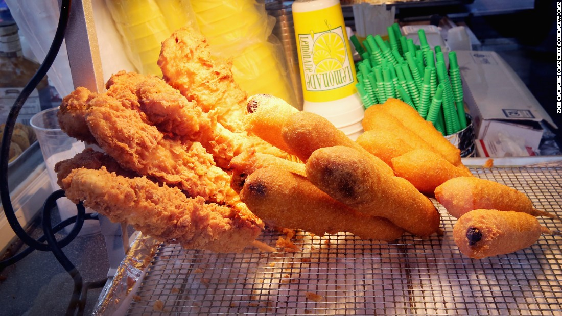 The Iowa State Fair boasts 70 on-a-stick food items, along with new delicacies such as deep-fried nacho balls, fried PB&J on a stick and pumpkin-spice funnel cake.