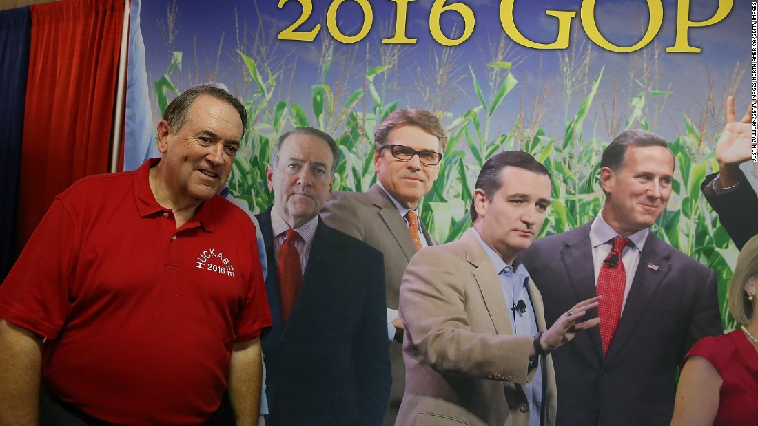 "Fourteen Republican candidates, including Huckabee, are expected to participate in the Des Moines Register's Soapbox, a modern take on the old-fashioned political activity of ""getting up on the soapbox."""