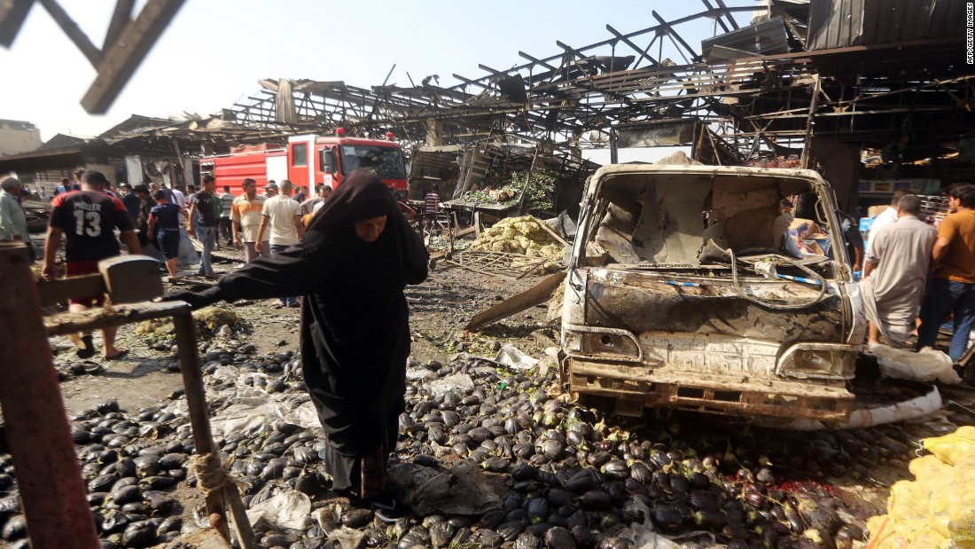 Blast at Baghdad market kills dozens; ISIS claims responsibility