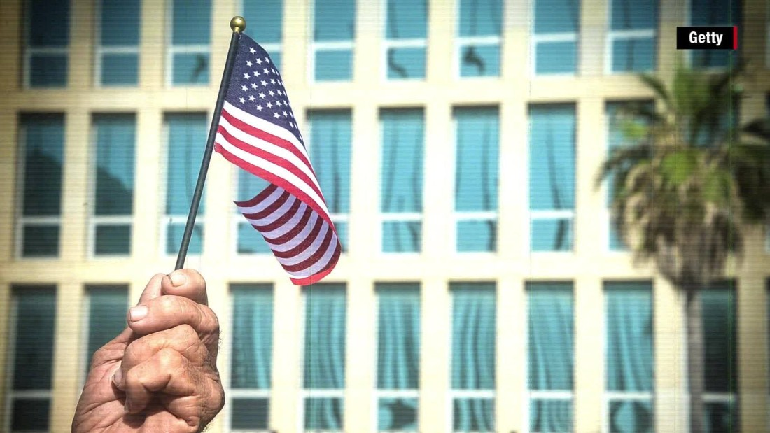 Marines who removed flag at U.S. Embassy in Havana see it raised again