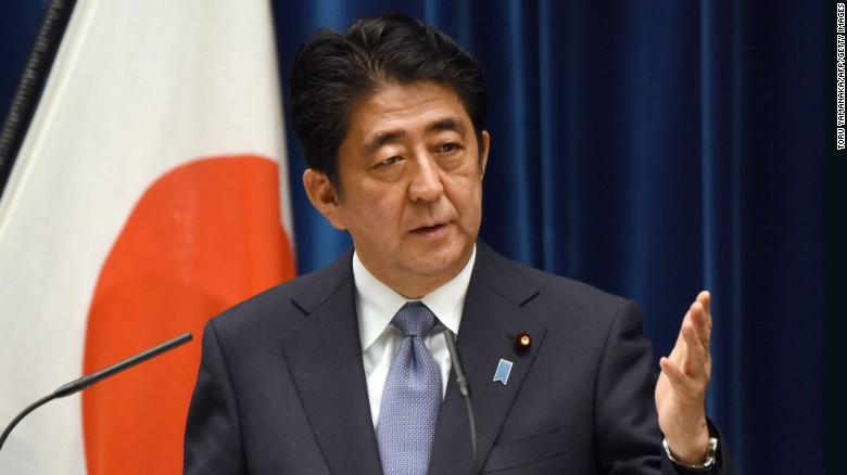 Japan's Prime Minister has 'grief' over WWII