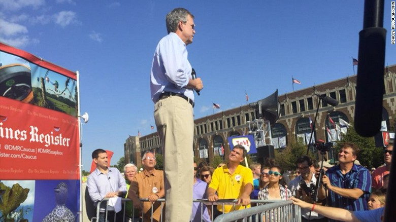 Jeb Bush faces questions on Iraq at Iowa State Fair