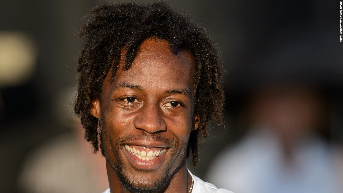 The easygoing Monfils is seemingly always smiling.