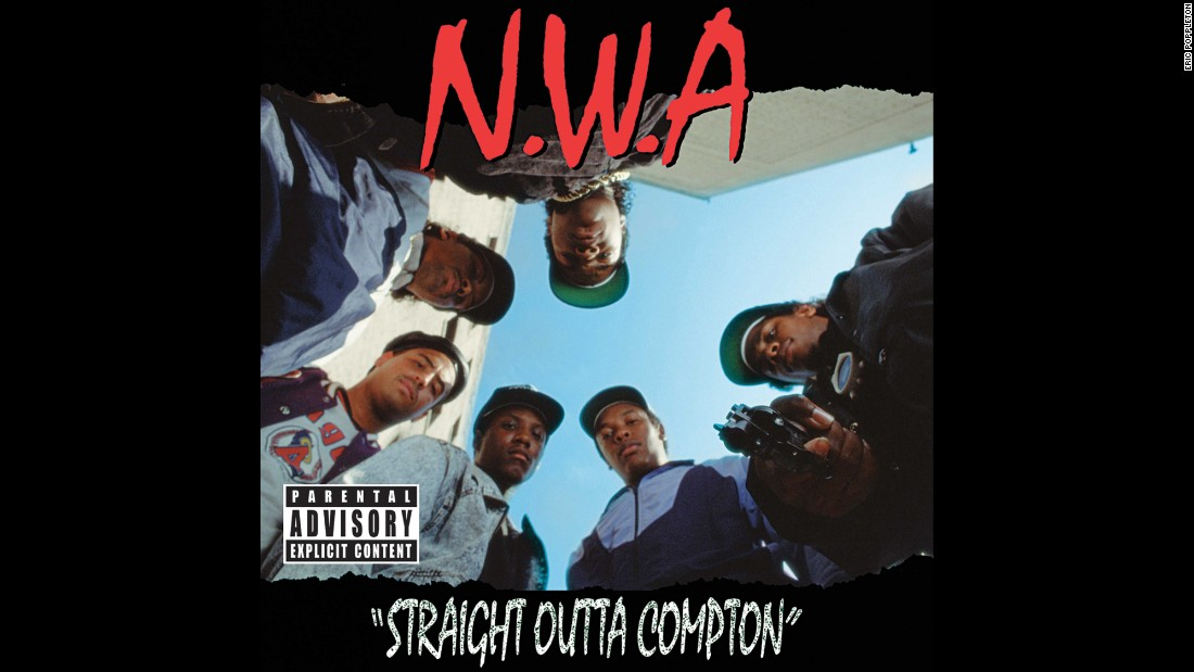 "<strong>""Straight Outta Compton,"" N.W.A.</strong>: This photograph is considered one of the most provocative to ever grace an album cover: six guys staring toward the ground, one pointing a handgun. As the cover art for ""Straight Outta Compton,"" the pioneering debut album by N.W.A., it's the image of the record that revolutionized gangsta rap and redefined hip-hop."