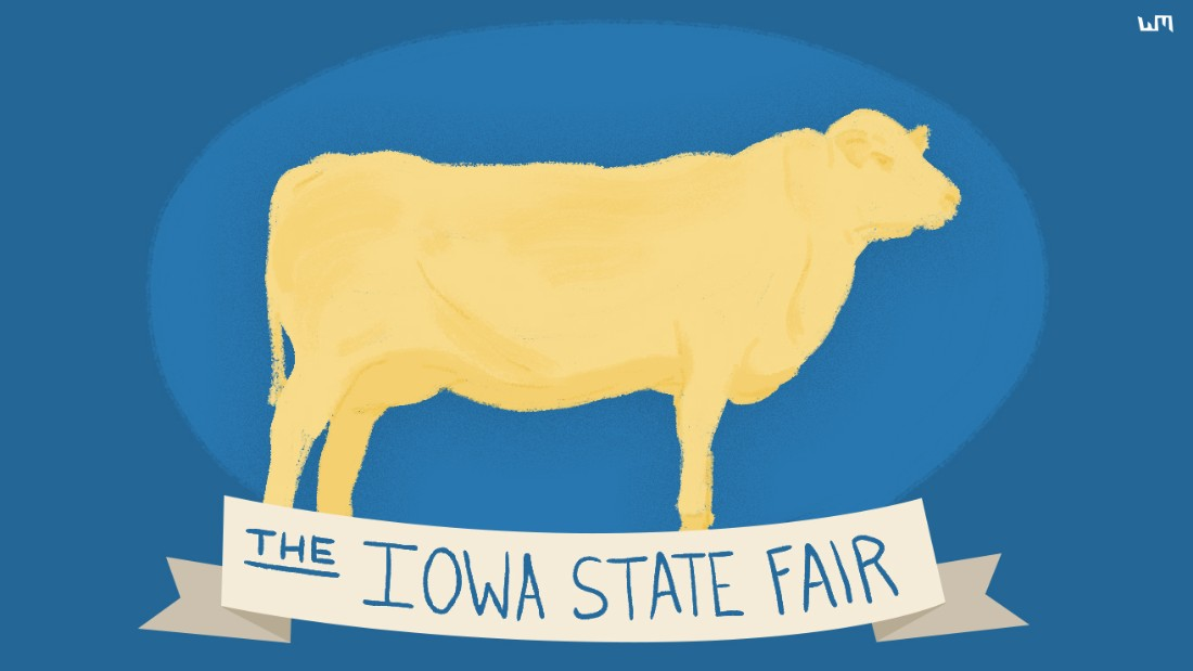 "The time has come for fried food on sticks, cows carved out of butter and carnival rides galore. <a href=""http://www.cnn.com/2015/08/13/politics/iowa-state-fair-2016-candidates/"">The Iowa State Fair has become a must-attend for presidential candidates</a>, who will flock to Des Moines to campaign for the 2016 election. And Donald Trump came through on his pledge to give kids free rides in his helicopter. Here's a look at the festivities."