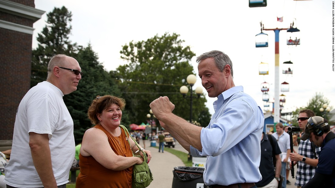 O'Malley smiles while greeting fairgoers on August 13.