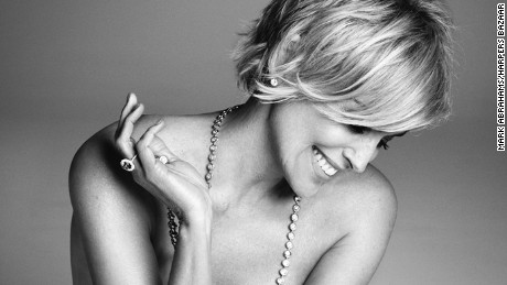 Sharon Stone poses nude for an article in the September issue of Harper's Bazaar.